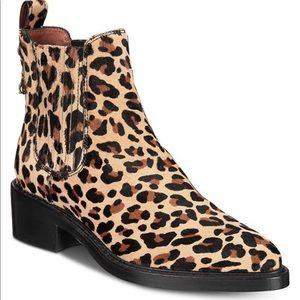 NIB COACH ANIMAL PRINT BOOTIES